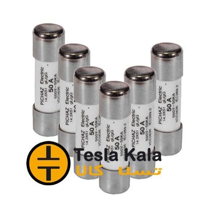 مجموعه شش تایی فیوز سیلندری 2 تا 50 آمپر پیچاز الکتریک 51*14 gG/gL