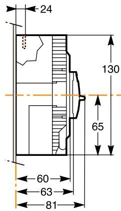 کلید اتوماتیک،اشنایدر 25 آمپر،غیرقابل تنظیم حرارتی-مغناطیسی سری EZC