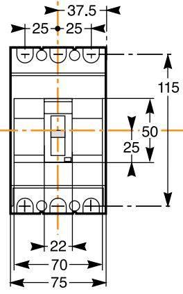 کلید اتوماتیک،اشنایدر 100 آمپر،غیرقابل تنظیم حرارتی-مغناطیسی سری EZC