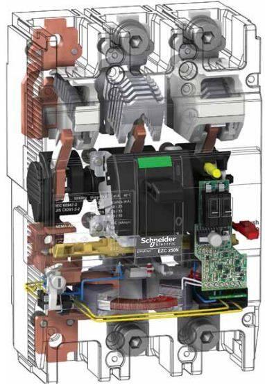 کلید اتوماتیک،اشنایدر 250 آمپر،غیرقابل تنظیم حرارتی-مغناطیسی سری EZC
