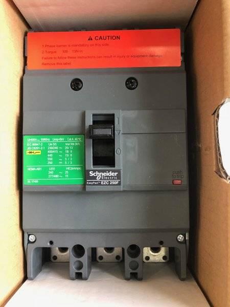کلید اتوماتیک،اشنایدر 125 آمپر،غیرقابل تنظیم حرارتی-مغناطیسی سری EZC