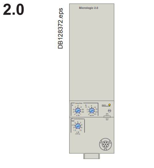 micro logic 2.0 a - کلید اتوماتیک، اشنایدر 1250 آمپر، الکترونیکی سری NS