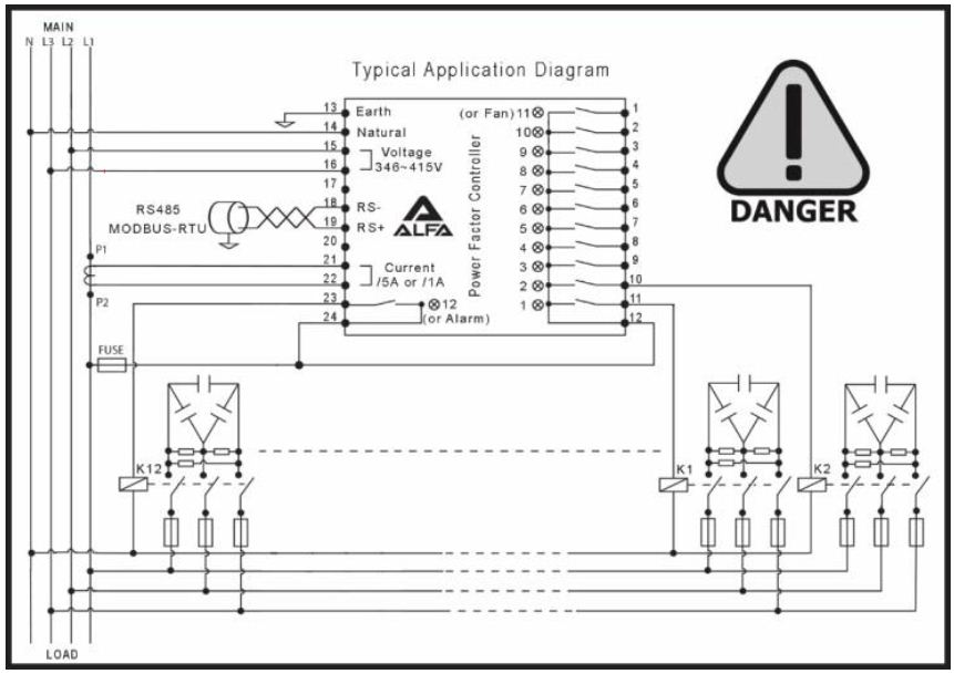 2222222222 - رگولاتور بانک خازنی، 12 پله زایلوگ ZILUG مدل ALFA AL2020