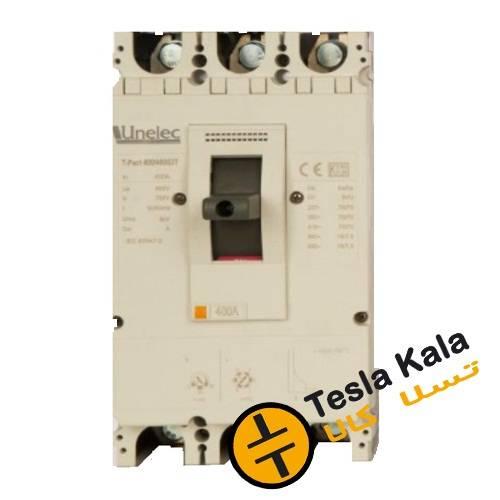 کلید اتوماتیک 400 آمپر Unelec ، قابل تنظیم حرارتی-مغناطیسی سری T-pact