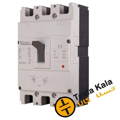 کلید اتوماتیک 200 آمپر Unelec ، قابل تنظیم حرارتی-مغناطیسی سری T-pact DT
