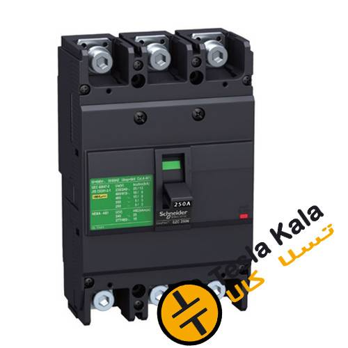 کلید اتوماتیک،اشنایدر 160 آمپر،غیرقابل تنظیم حرارتی-مغناطیسی سری EZC