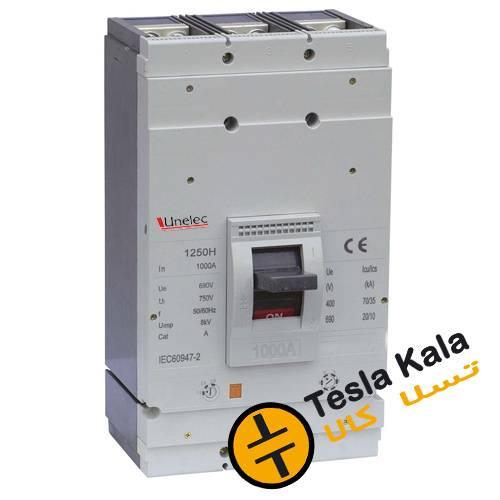 کلید اتوماتیک 1000 آمپر Unelec ، قابل تنظیم حرارتی-مغناطیسی سری T-pact