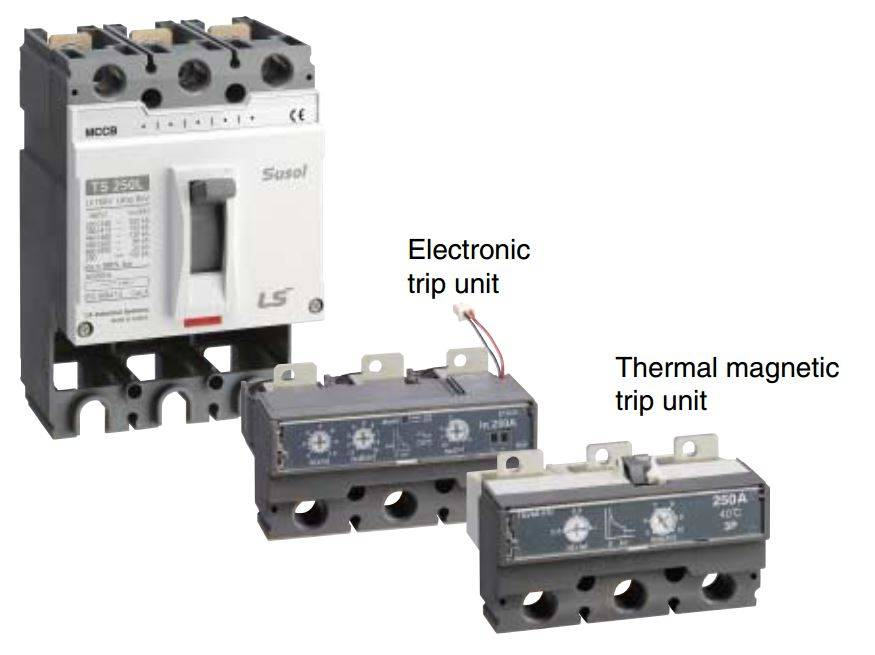 کلید اتوماتیک،کمپکت 160 آمپر،قابل تنظیم الکترونیکی LS سری SUSOL