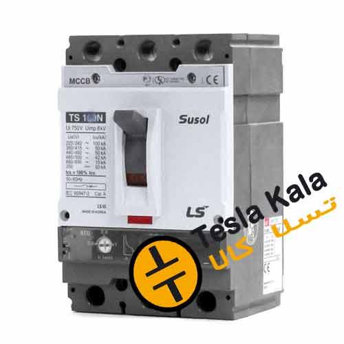 کلید اتوماتیک،کمپکت 100 آمپر،قابل تنظیم حرارتی-ثابت مغناطیسی LS سری SUSOL