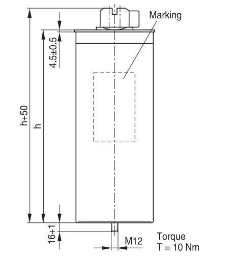 1 1 - خازن سه فاز فشار ضعیف گازی اپکاس ،46کیلووار (56کیلووار در 440 ولت) EPCOS