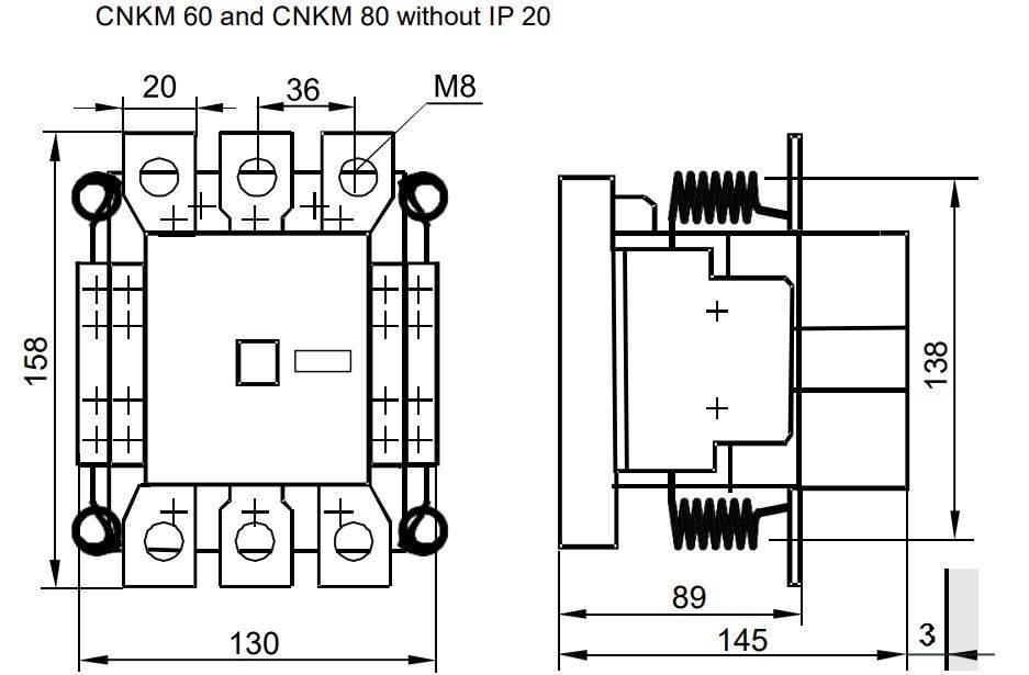 کنتاکتور خازنی 60کیلوواری RK  مدل  22 CNKM 60