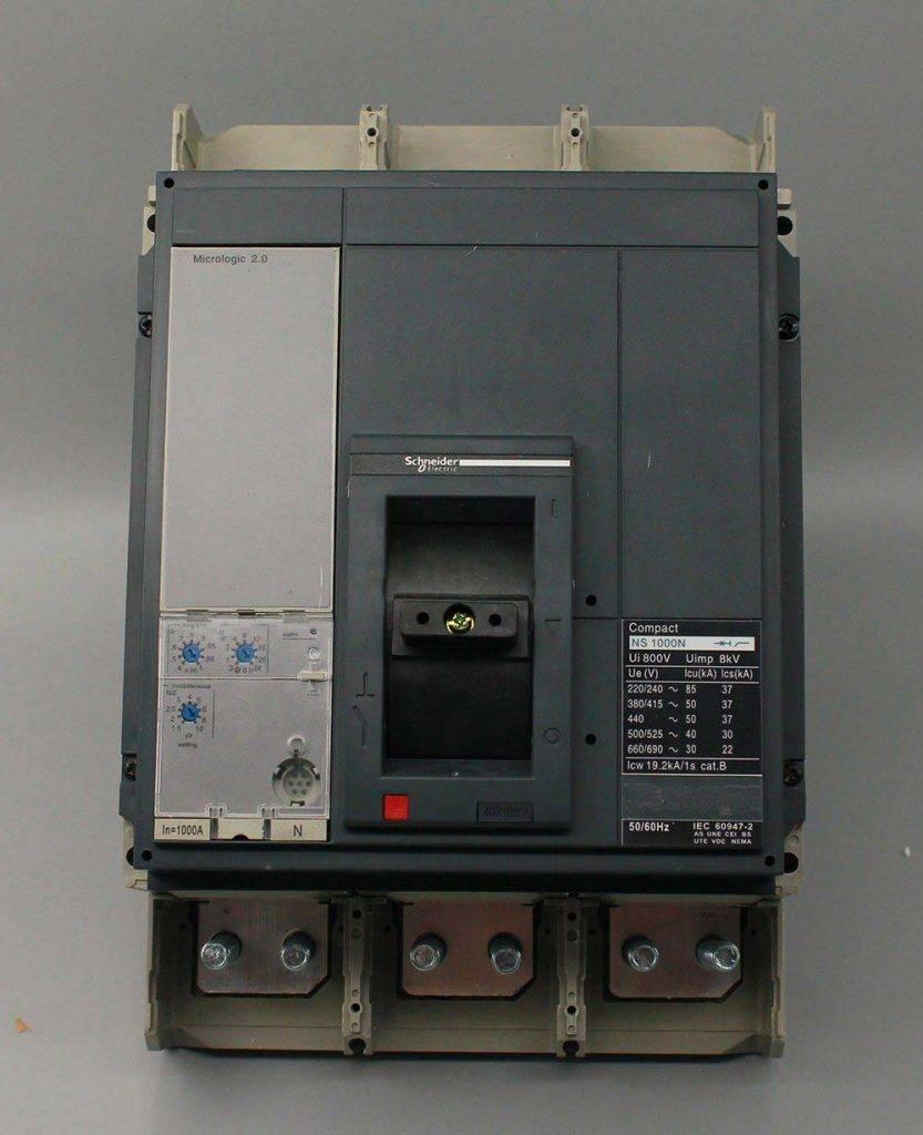 Ce CB IEC CCC Schneider Electric Ns 1000AMP MCCB Circuit Breaker scaled - کلید اتوماتیک، اشنایدر 1250 آمپر، الکترونیکی سری NS