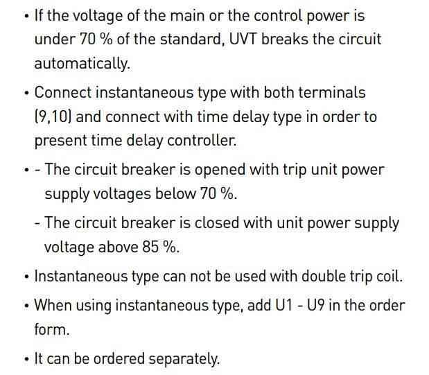 GALLERY UVT - رله آندر ولتاژ، جهت کلید هوایی هیوندای، HYUNDAI 220VAC/DC UANSU2