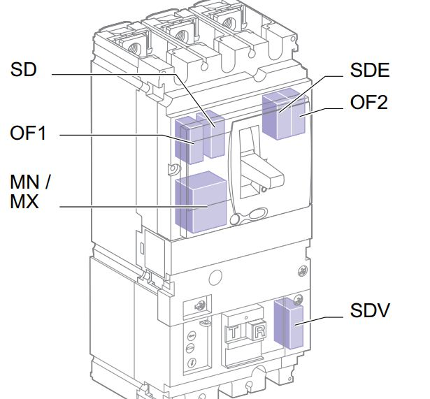 all tmd - کلید اتوماتیک، اشنایدر 16 آمپر، قابل تنظیم حرارتی- ثابت مغناطیسی سری NSX
