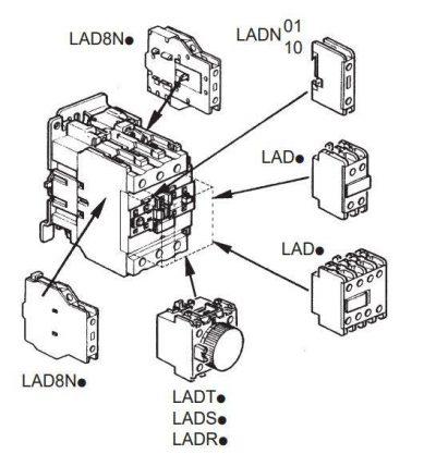 کنتاکتور قدرت، 50 آمپر اشنایدر 22 کیلووات، بوبین 220VAC ، مدل LC1D50AM7