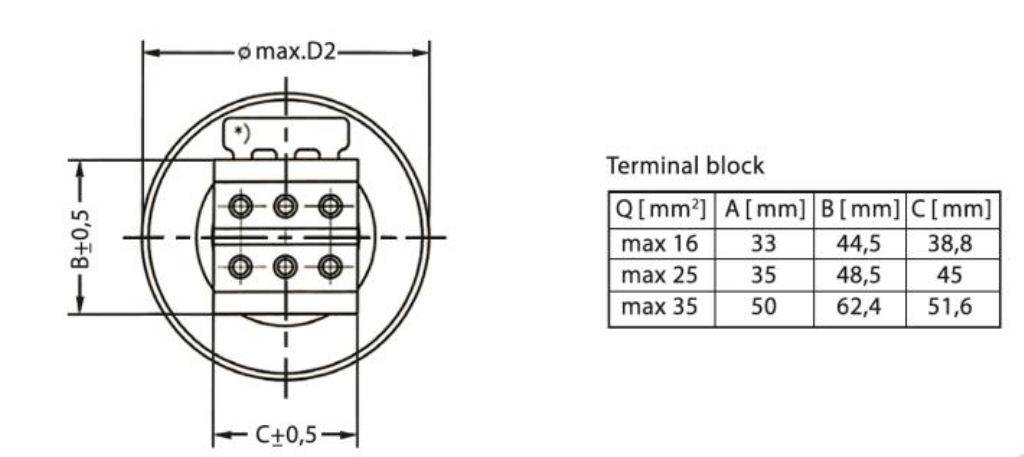 خازن 3فاز فشارضعیف، روغنی آلمانی، 3 کیلووار در 440 ولت ( 2.5 در 400) HYDRA