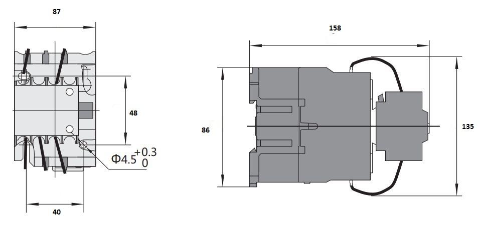 کنتاکتور خازنی 25 کیلوواری برند  CHINT مدل CJ19-4311