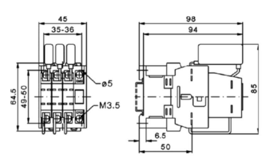کنتاکتور خازنی 12.5 کیلوواری برند EPCOS  ساخت آلمان
