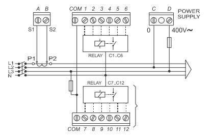 رگولاتور بانک خازنی 12 پله ZEZ  مدل PFR12