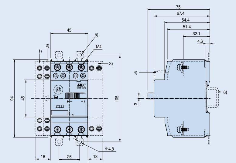 کلید حرارتی (محافظ موتور) MPCB برند LS مدل MMS-32S 1:1.6