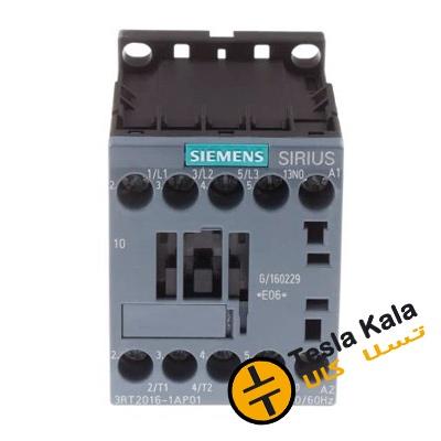 کنتاکتور قدرت، 7 آمپر، 3 کیلووات، بوبین 230VAC ،مدل SIEMENS 3RT2015-1AP01