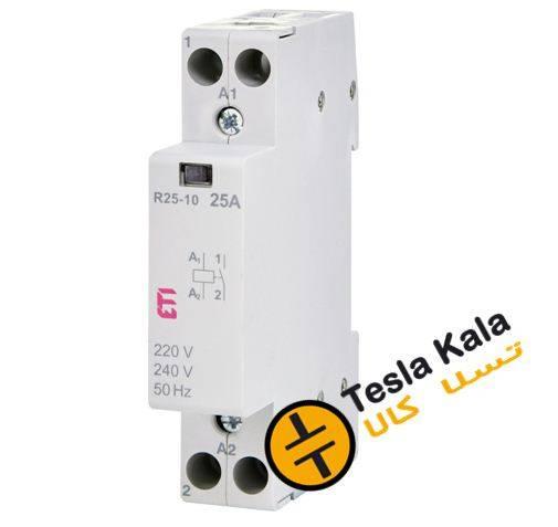 کنتاکتور تکفاز ( تک پل ) 25 آمپر برند ETI ولتاژ کنترل230 VAC مدل R 25-10