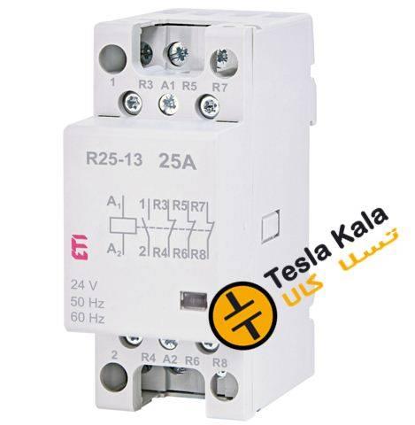 کنتاکتور تکفاز ( چهار پل ) 25 آمپر برند ETI ولتاژ کنترل24 VACمدل R 25-13