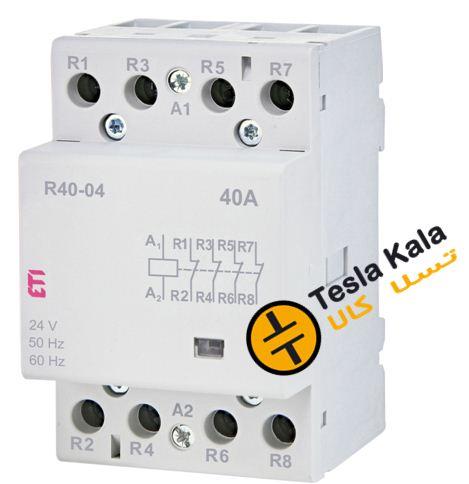کنتاکتور تکفاز ( چهار پل ) 40 آمپر برند ETI ولتاژ کنترل230 VAC مدل R 40-04