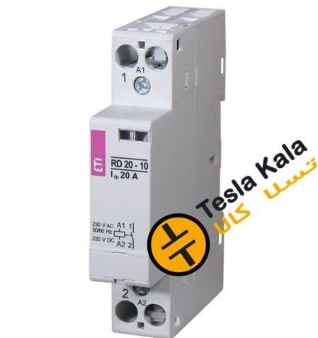 کنتاکتور تکفاز ( تک پل ) 20 آمپر برند ETI ولتاژ کنترل VDC / AC 24 مدل RD 20-01