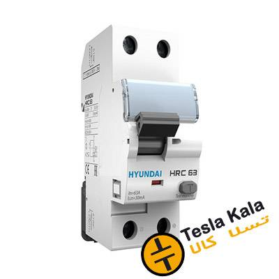 کلید محافظ جان (RCCB) مدل دو پل  16A HRC برند HYUNDAI