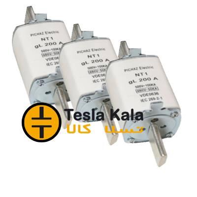 مجموعه سه تایی فیوز کاردی 100 تا 250 آمپر gG/gL پیچاز الکتریک NT1