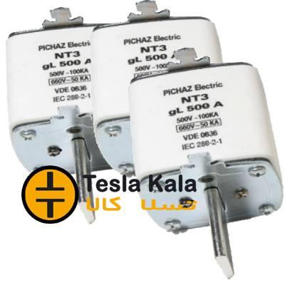 مجموعه سه تایی فیوز کاردی 315 تا 630 آمپر gG/gL پیچاز الکتریک NT3