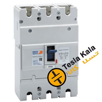 کلید اتوماتیک 250 آمپر، کیاز روسیه KEAZ غیرقابل تنظیم حرارتی-مغناطیسی سری OptiMat E