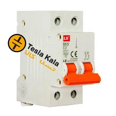 کلید LS مینیاتوری 2 پل  2 فاز  32 آمپر 6 کیلو آمپر، سری BKN