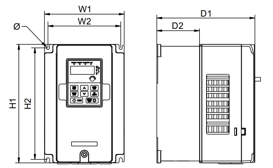 درایو (اینورتر) invt اینوت سه فاز، توان 30 کیلووات کاربری سنگین GD20-030G-4