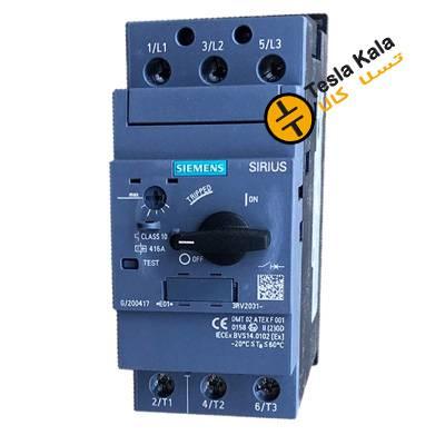 کلید حرارتی (محافظ موتور) MPCB برند SIEMENS مدل  45:63 3RV2031-4JA10