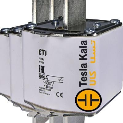 مجموعه سه تایی فیوز کاردی ETI آمپر 800 تا 1600، gG با نشانگر، سایز4a