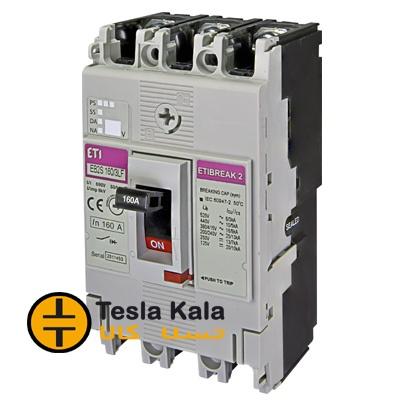 کلید اتوماتیک 100 آمپر ETI  غیرقابل تنظیم حرارتی-مغناطیسی 16KA  کد 4671809