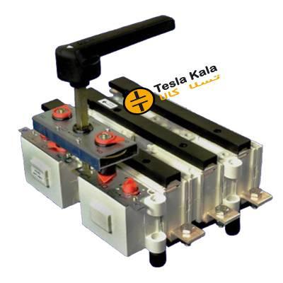 کلید گردان 2 طرفه 250 آمپر زاویر دسته معمولی مدل  changeover ZTPC 01
