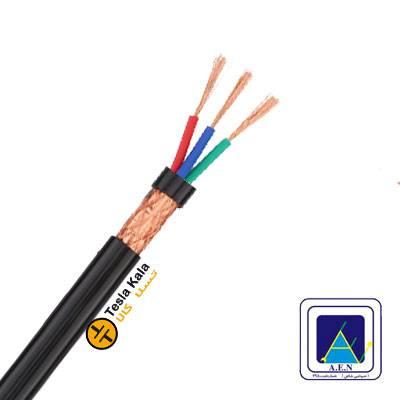 کابل افشان شیلددار سطح مقطع 1.5 در سه رشته برند البرز الکتریک نور (صد متر)