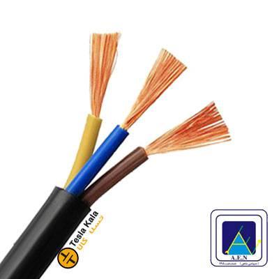 کابل افشان سطح مقطع 0.5 در سه رشته برند البرز الکتریک نور (صد متر)