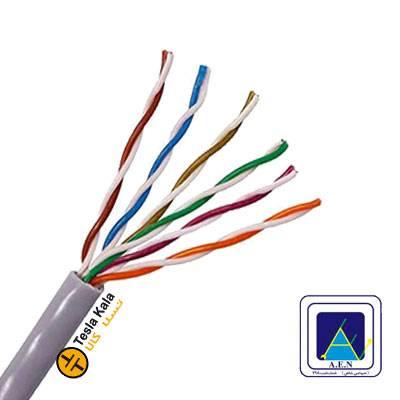 کابل مخابراتی شش زوج 0.6 برند البرز الکتریک نور ( صد متر )